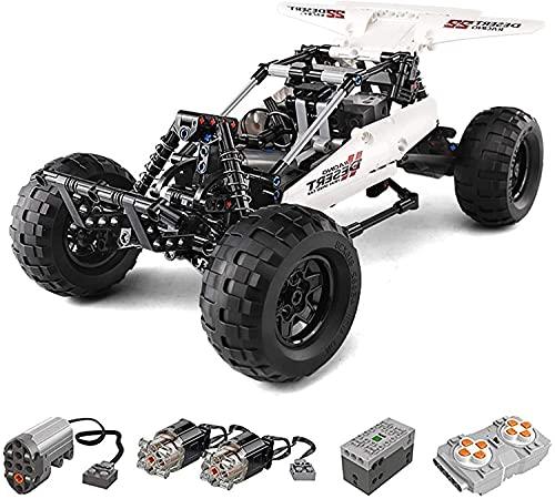 ZCXX Técnica Buggy teledirigido Monster Truck Offroader modelo con motores MOC, juego de construcción con bloques de sujeción, compatible con Lego Technic, Mould King 18001