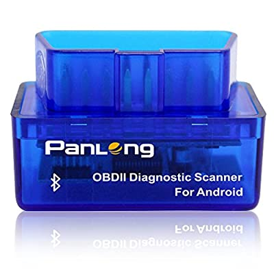 Panlong Bluetooth OBD2 OBDII Car Diagnostic Scanner Check Engine Light for Android - Compatible with Torque Pro by Panlong