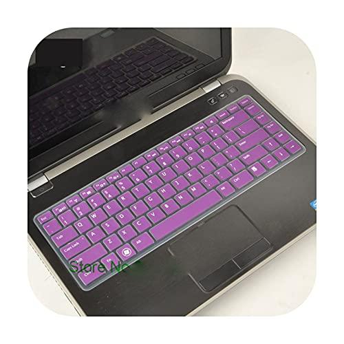 Cubierta del teclado del ordenador portátil de 14 pulgadas para DEll inspiron 14R 5437 n4050 n4110 3437 5525 5520 1420 1410 1520 1525 1545 1500-púrpura