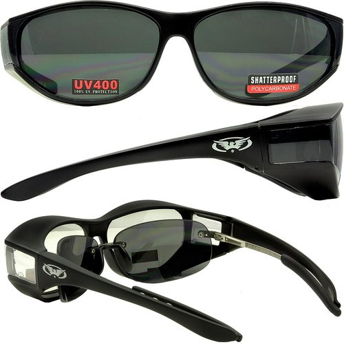 7600886c6c Escort Safety Glasses Over-Prescription Most Prescription Eyewear Smoke  Lenses Has Matching Side Lens to