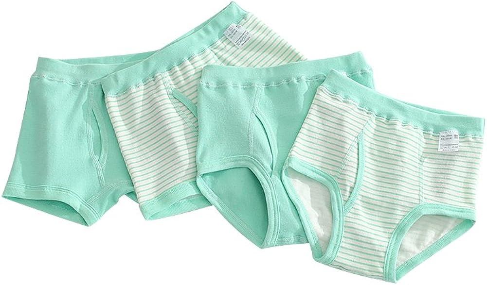Tortor 1Bacha Little Boys' 4 Pack Cotton Striped Boxer Briefs