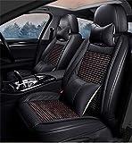 Xypc - Funda de piel para asiento de coche, 5D, impermeable y resistente al desgaste, almohadilla de madera de cinco plazas, universal, apto para la mayoría de los coches, E-14