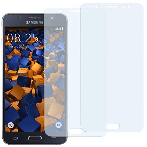 mumbi Schutzfolie kompatibel mit Samsung Galaxy J5 2016 Folie klar, Displayschutzfolie (2X)