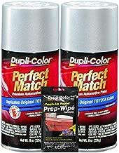 Dupli-Color Classic Silver Mica Exact-Match Automotive Paint for Toyota Vehicles - 8 oz, Bundles Prep Wipe (3 Items)