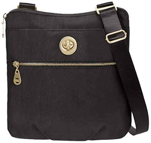 Baggallini Hanover Travel Crossbody Bag Gold Hardware, Black, One Size