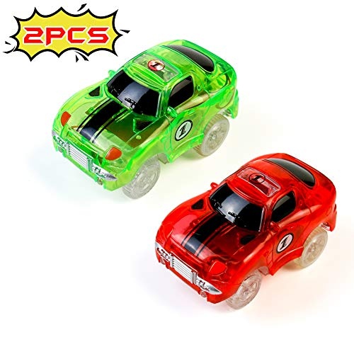 Fajiabao Coches de Juguetes Track Race Cars Coche Juguete Circuito Coches Niños Pista de Coches para Niños Niño Niña 3 4 5 6 Años