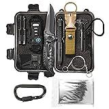 LIT FITNESS Survival Kits Emergency Survival Kit, Including Rock Climbing Gear, Emergency Blankets, Survival Bracelet, Tactical Pen, Tactical Flashlight, Gifts for Men