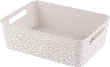 Storage Bin Organizer with Handle | Desk Drawer Organizer | Stationery Organizer, 2.5 Liter, Set of 6