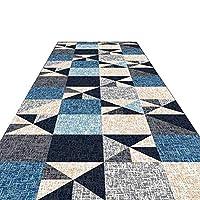 廊下敷きマット ランナー 廊下キッチンホテルの家の装飾のためのモダンなロングランナーラグ、滑り止めのバッキング、幾何学模様の厚い洗えるエリアラグ (Color : Style A, Size : 1.2×8m)