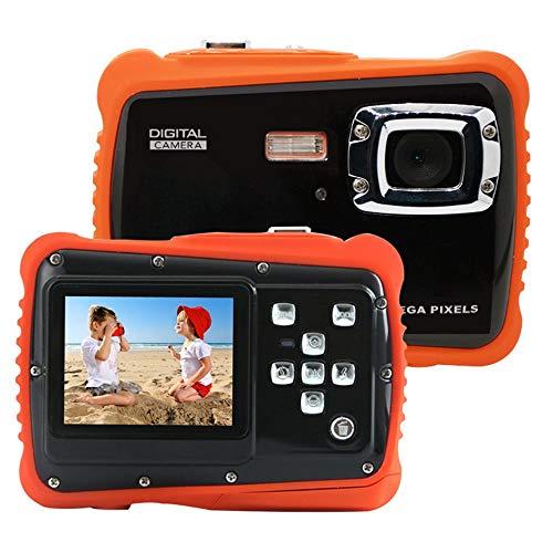 Kinder Unterwasser Digitalkamera-IP68 wasserdichte 8X Digital Zoom Kleinkind Kamera Video Recorder Action Kamera mit 2,0 Zoll LCD Display Schwimmende Handschlaufe Blitz und Mikrofon für Kinder