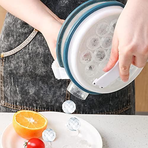 Molde para cubitos de hielo, cubitos de hielo, bolas de hielo, para hacer bolas de hielo, para whisky, agua, bebidas de cóctel, vino, hielo, chocolate, cubitos de hielo y hervidor de agua moderno.
