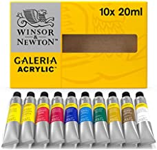 Winsor & Newton Galeria Acrylic Paint, 20ml Tubes, Set of 10, 7 Fl Oz