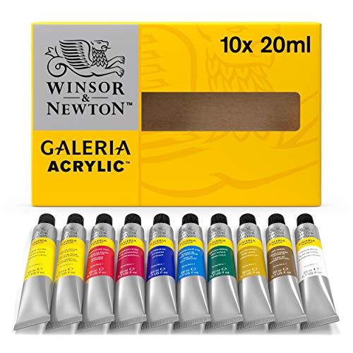 Winsor & Newton Galeria Acrilico 10 x 20 ml tubo vernice stabilita