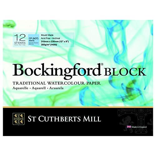 Bockingford Watercolor Block 9 X 12 White 140 Pound