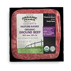 Organic Prairie Pasture Raised 90% Lean Organic Ground Beef, 1 lb