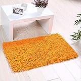 AOI Alfombra de baño de Felpa de Microfibra de Chenilla, Suave y acogedora, Agua súper Absorbente, Antideslizante, Gruesa para Dormitorio de baño (60x40 cm, Naranja)