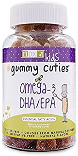 Gummy Cuties Kid's DHA Gummies - Omega-3 Fish Oil for Cognitive Development & Immune Function - Gluten Free, Non GMO, Natu...