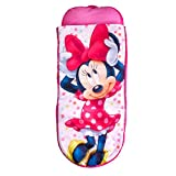 ReadyBed Minnie Mouse - Lit gonflable et sac de couchage pour bébé deux en un, polyester, rose, simple, 150 x 62 x 20 cm