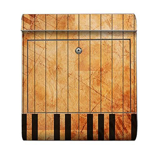 motivX-Ideenwerkstatt Briefkasten Kombi Wandbriefkasten mit Motiv Klavier mediterran