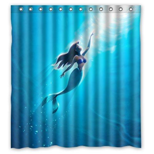 The Little Mermaid Custom Shower Curtain Home Decor Bathroom Waterproof Fabric Fashion Bath 66x72 Inch