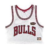 Mitchell and Ness NBA Chicago Bulls - Camiseta de tirantes para mujer, color blanco