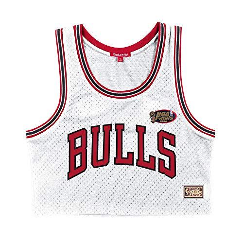 Mitchell and Ness NBA Chicago Bulls - Camiseta de tirantes para mujer, color blanco Blanco L