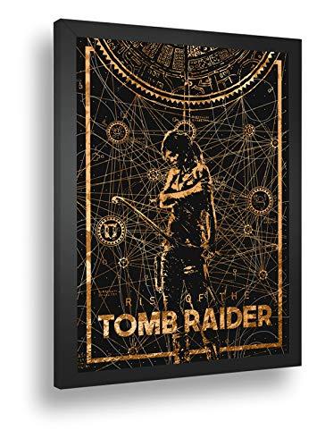 Quadro Decorativo Poster Rise Of The Tomb Raider Game