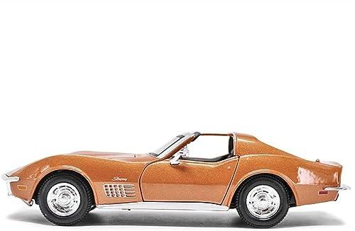 Modèle de voiture, jouets pour enfants ouvrables par modèle moulé sous pression d'alliage de Corvette de 1970 de ratio de 1 24 (Couleur   Orange, Taille   24  11  6CM)