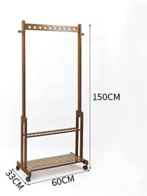Amazon.com: LSX-Clothes Rack Wooden Coat Rack,Full-Length ...
