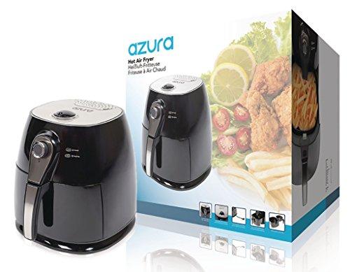 Azura–Hot Air Fryer 1400W 3L Black/Silver