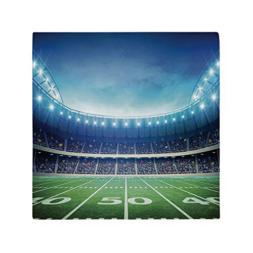 AmaUncle Premium Washable Polyester Napkins Great for Wedding Party Restaurant Dinner Parties 20' x 20' - Photo of American Stadium Green Grass Playground Bleachers Event NO-24170