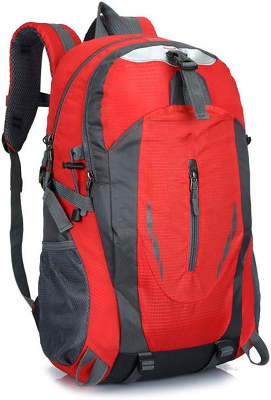 WZbackpack Mnner Rucksack Wasserdichter Rucksack Designer Rucksack Mnner Hohe Qualitt Unisex Nylontasche Reisetasche Gepcktasche Bergsteigenbeutel (Farbe   Rot)