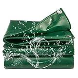 Revestimiento de PVC Impermeable Lona Verde Lona de lona para exteriores Multiuso Impermeable Cubierta de lona de poliéster Resistente a los rayos UV, Impermeable y lavable - 0.45 mm, 2M * 1.5M