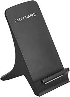 Livoty For smart phone, 3 Coils Qi Wireless Fast Charger Charging Stand Dock Holder (Black)