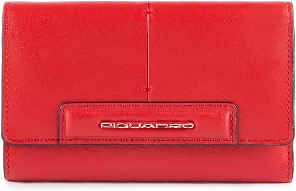 Piquadro splash , portafoglio per donna , in vera pelle PD4152SPLR/RSA