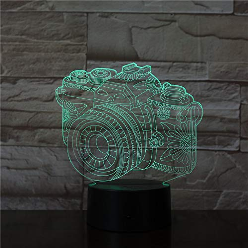 Digitale Spiegelreflexkamera 3D Lampe Optische Led Nachtlicht, 16 Farben Ändern Berührungssteuerung Usb Schreibtischlampe Baby Kinderzimmerlampe Für Home Decor Weihnachten Geburtstag Geschenke