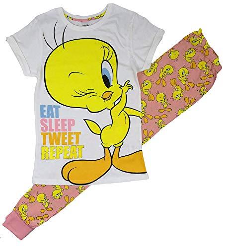 Damen Character Schlafanzüge Offiziell Lizenziertes Produkt Größen von 8-22 - Tweety Pie - Eat Sleep Repeat, EU 40/42