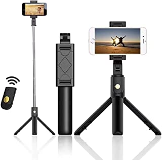 AUSELECT Selfie Stick Tripod, Extendable Bluetooth Selfie Stick with Wireless Remote, Compatible with iPhone 11/11 pro/X/8...