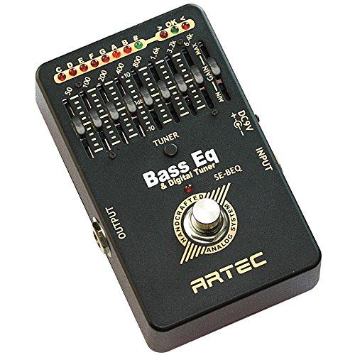 ARTEC エフェクター ベース用 チューナー付 8バンド グラフィック イコライザー SE-BEQ