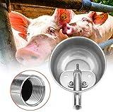 HEEPDD Ganadero Abrevadero automático, Bebedero de Agua de Acero Inoxidable Cuenco para ovejas de Cerdo Cabras Lechones Cochinillos Cochinillos Caballos pequeños Ganado Granja Suministros de Ganado