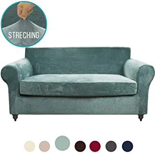 Peachy Amazon Com Green Loveseat Slipcovers Slipcovers Home Dailytribune Chair Design For Home Dailytribuneorg