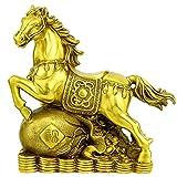 ADISVOT Ottone Ricco Cavallo in Piedi Statua Ricchezza Cavallo Stallone Amare Giocare a Mano Arte Figurina Scultura Decorazioni per la casa Regalo Fengshui da 7 Pollici
