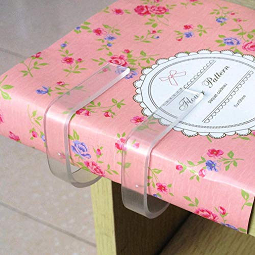 dfhdrtj Tischdeckenklammern aus ABS-Kunststoff, transparent, für Zuhause, Party, Picknick, Zubehör für Zuhause, Dekoration, 5 Stück Farben