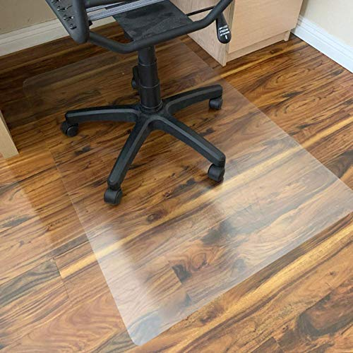 """Polycarbonate Office Chair Mat for Hardwood Floor, Floor Mat for Office Chair (Rolling Chairs), Desk Mat & Office Mat for Hardwood Floor, Only for Hardwood Floor, Immediately Flat Out of Box, 30""""x48"""""""