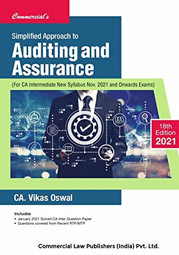 Commercial's Simplified Approach to Auditing and Assurance (New) by Vikas Oswal for Nov 2021 Exam