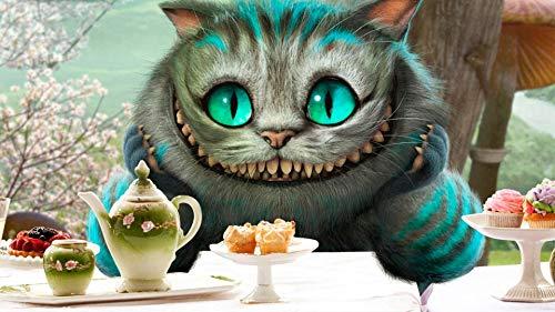 SNHYDLG Puzzle 1000 Teile Erwachsene, Alice Im Wunderland Cheshire Katze Dunkel Upgrade Holz Größtes Puzzle Der Welt, Brain Challenge Puzzle Für Kinder Kinder