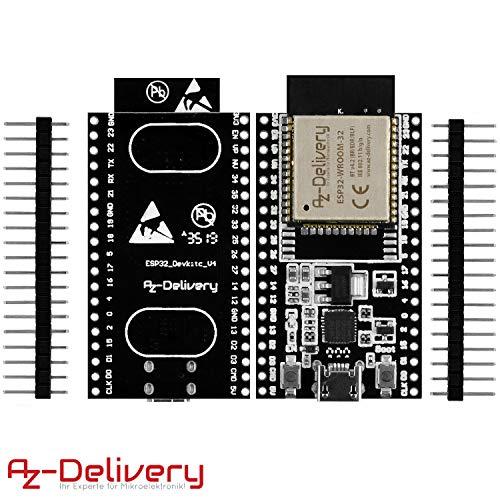 AZDelivery 3er Set ESP32 Dev Kit C V4 NodeMCU WLAN/WiFi Development Board unverlötet inklusive E-Book! (Nachfolger Modul von ESP32 Dev Kit C)