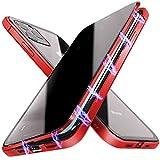 Funda magnética anti-pío Compatible con iPhone 11, Anti-Peep Funda de Adsorción Magnética Súper Delgada Marco de Metal de Vidrio Templado con Cubierta Magnética Incorporada Compatible con iPhone 11