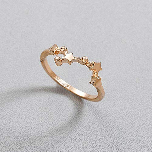 DGSDFGAH Ring For Women Virgo Constellation Ring Finger Ring Scorpio Zodiac Women'S Zodiac Constellation Girl Wedding Jewelry Jewelry