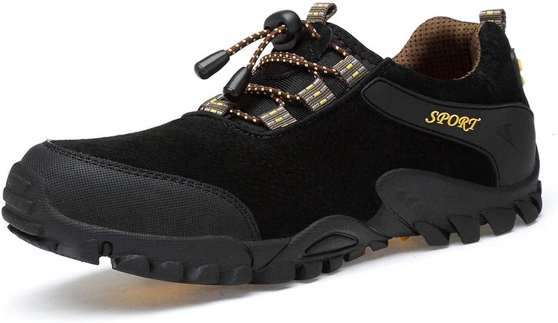 Sunjcs Men's Hiking shoes Low Top Walking Trainers Trekking shoes Casual Walking Trail Sneakers